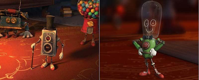 Les automates et personnages du film d'animation le Manoir Magique