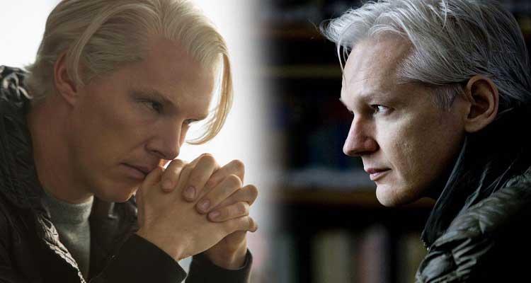 Le cinquième pouvoir Benedict Cumberbatch et Julian Assange
