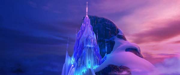 Reine des neiges château