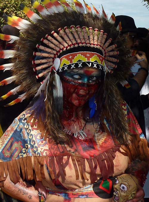 zombie-walk-indienne-girl