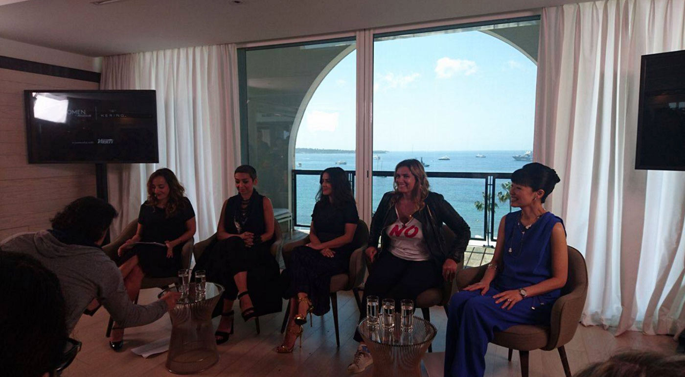 Talk-Women-in-motion-Lisa-Azuelos-Su-Mei-Thompson-Zainab-Salbi-Salma-Hayek-Pinault