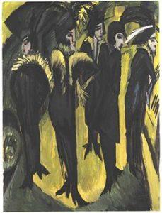 Kirchner-cinq-femmes-dans-la-rue