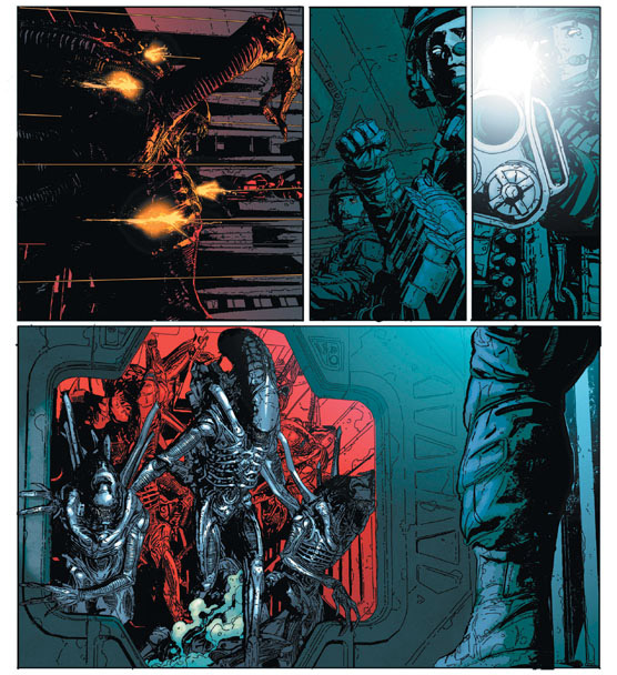 aliens-defiance-brian-wood-comic-books-androide-suspense-et-xenomorphe-copyright-vestron-dark-horse-comics